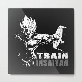 Goku train insaiyan Metal Print