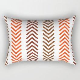Rustic Brown & Orange Arrows  Rectangular Pillow