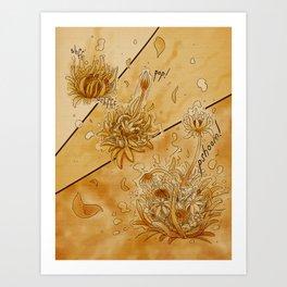 Blooming Tea Art Print