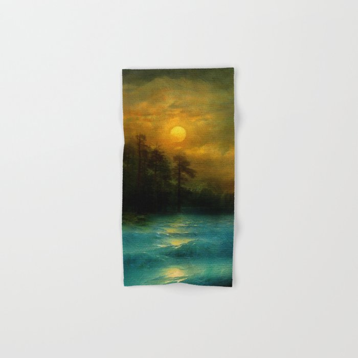 Hope, in the turquoise water. Hand & Bath Towel