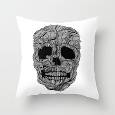 Skull No.9 Pluma Throw Pillow