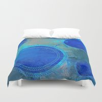 nautical Duvet Covers featuring Nautical by JuniqueStudio