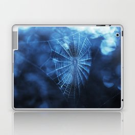 Spider Web in Blue Laptop & iPad Skin
