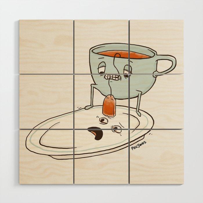 Tea Baggin' Wood Wall Art