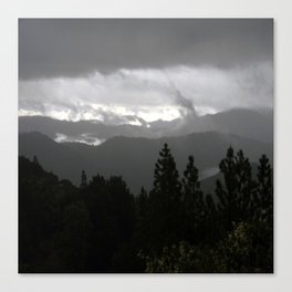 Dark Stormy morn... Canvas Print