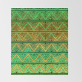 Green Jubilation Throw Blanket
