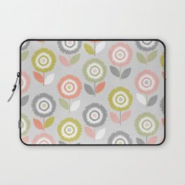 Soft Graphic Flower Pattern Laptop Sleeve