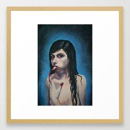 Sharp tongue Framed Art Print