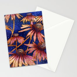 Moonlight and Daisies II Stationery Cards