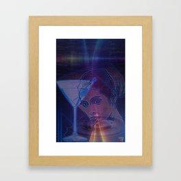 Cyber Martini Girl 1 Framed Art Print