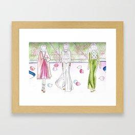Paris Haute Couture gowns Framed Art Print