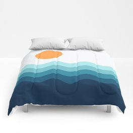 Abstract Landcape 14 Portrait Comforters