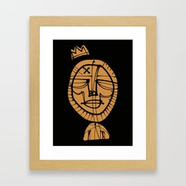 Gold X Crown Framed Art Print