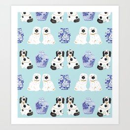 Staffordshire Dogs + Ginger Jars No. 7 Art Print