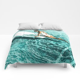 Pool Day #society6 #painting #summer Comforters