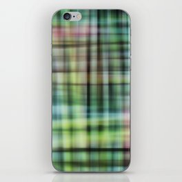 Modern Scottish Tartan Plaid Pattern iPhone Skin