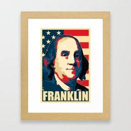Benjamin Franklin America Pop Art Framed Art Print