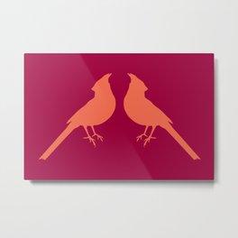 facing cardinals (color) Metal Print