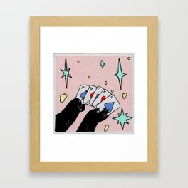 Playing Cards Framed Art Print