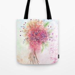 Watercolor Loose Flowers Bouquet Tote Bag