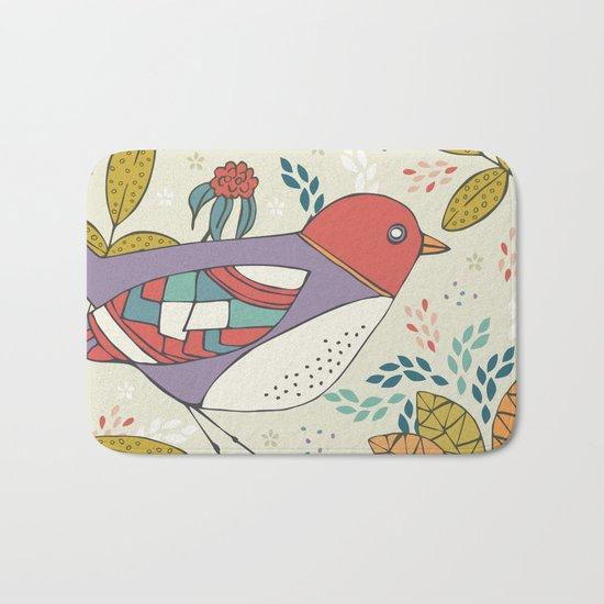 Bird and Butterfly  Bath Mat