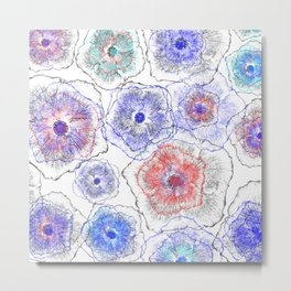 Floral abstract 97 Metal Print