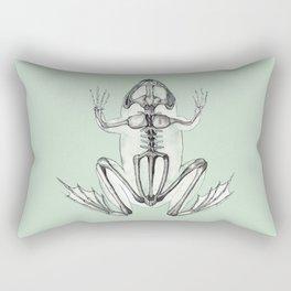 Frog Skeleton: Animal Anatomy Rectangular Pillow