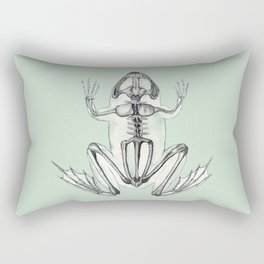 Frog Skeleton: Animal Anatomy Rectangular Pillow