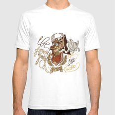 Oh my Deer (be unique and forever young like a 1960 radio) Mens Fitted Tee SMALL White