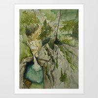 Cascade Art Print