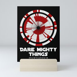 Dare Mighty Things Perseverance Mars Rover Landing Binary Code Pattern Mini Art Print