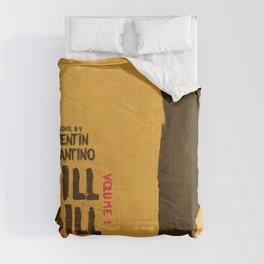 Kill Bill, Quentin Tarantino, minimal movie poster,  Uma Thurman, Lucy Liu, alternative film Comforters