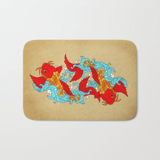 gold fish Bath Mat