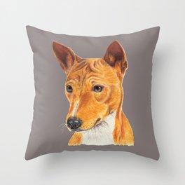 Basenji Throw Pillow