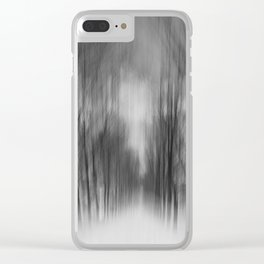avenue of trees Clear iPhone Case