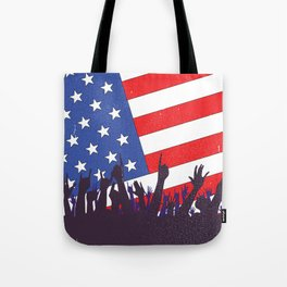 Stars And Stripes Audience Tote Bag