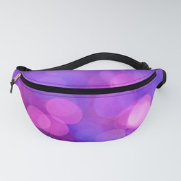 Purple and Pink Bokeh Fanny Pack