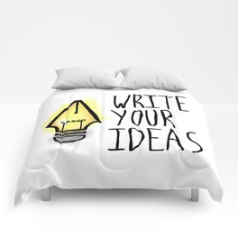 Write Your Ideas Comforters