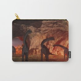 Brachiosaurus disappear in a cave Carry-All Pouch