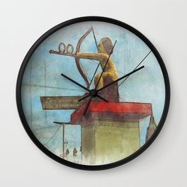 Munich Beer Festival - Amor Angel shows the way Wall Clock