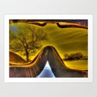 Winter Lens Art Print