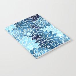 Space Dahlias Blue Ice Notebook