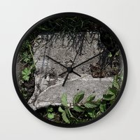 concrete Wall Clocks featuring concrete by Ruud van Koningsbrugge