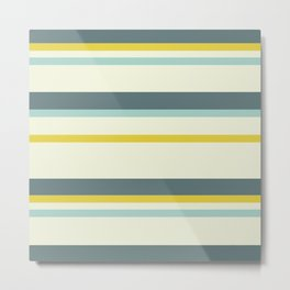 Lemon Stripes Spring Summer 2021 Metal Print