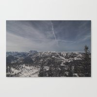 the mountains are calling Canvas Prints featuring The mountains are calling by UtArt