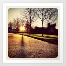 Sunset in Swords Park - Instagram Art Print