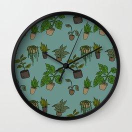 Indoor Plants Wall Clock