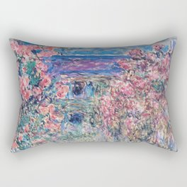 The House among the Roses by Claude Monet Rectangular Pillow