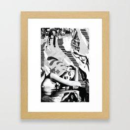 Bunny Blacktie Ball Framed Art Print