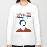 swanson Long Sleeve T-shirts featuring Swanson 2012 by Clarke Hall